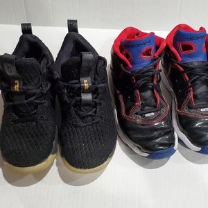 Kids Sz 3 Lebron And Jordan sneaker bundle